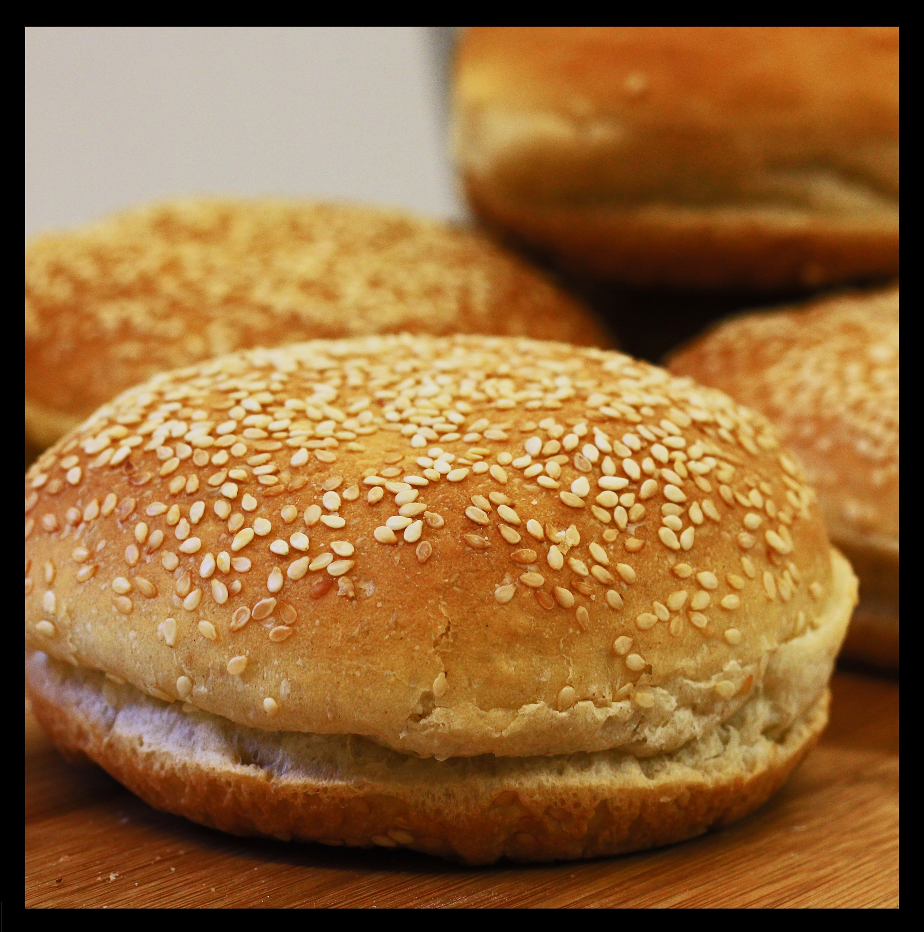 Seeded Kaiser Buns